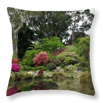 Garden Reflection Throw Pillow