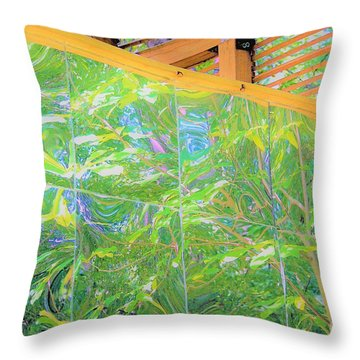 Garden Reflections Throw Pillow