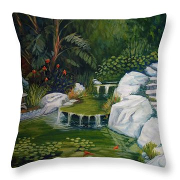 Garden Retreat Throw Pillow