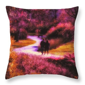 Garden Romance Throw Pillow