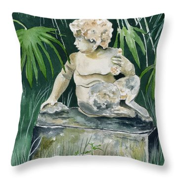Garden Satyr Throw Pillow