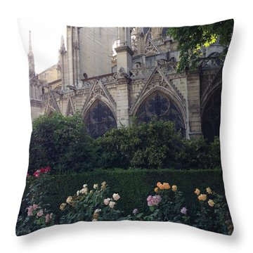 Garden Scene Throw Pillow