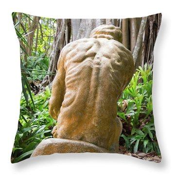 Garden Sculpture 1 Throw Pillow