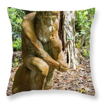 Garden Sculpture 3 Throw Pillow