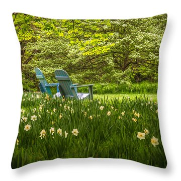 Garden Seats Throw Pillow