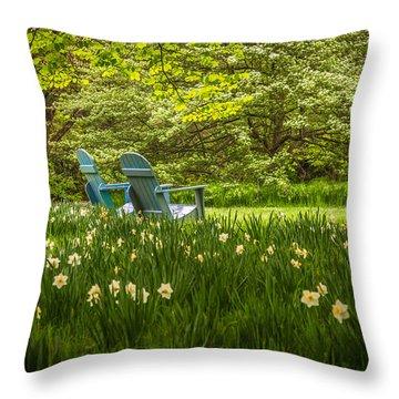 Garden Seats Throw Pillow