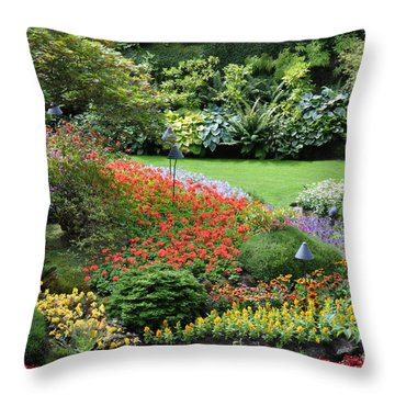 Garden Tapestry 4 Throw Pillow
