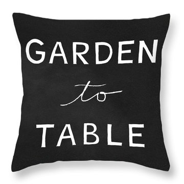Garden To Table- Art By Linda Woods Throw Pillow