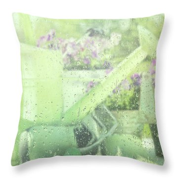 Garden Tools For Spring Planting  Throw Pillow by Sandra Cunningham