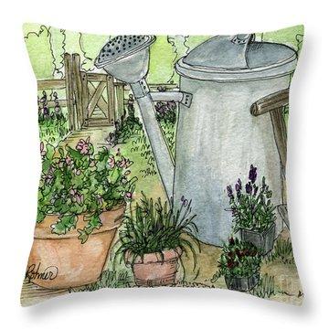 Garden Tools Throw Pillow