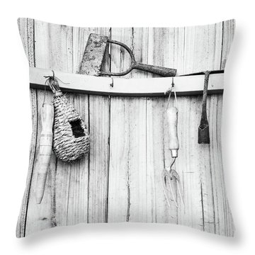 Throw Pillow featuring the photograph Garden Tools by Rebecca Cozart