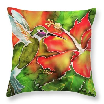 Garden Treasures Throw Pillow