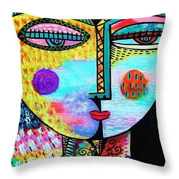 Garden Trellis Throw Pillow by Sandra Silberzweig