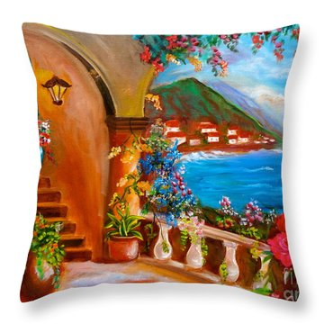 Garden Veranda 1 Throw Pillow