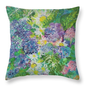 Garden View Throw Pillow