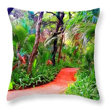 Garden Walk Throw Pillow