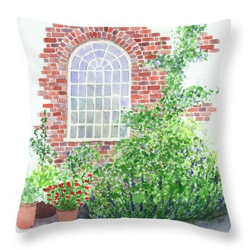 Garden Wall Throw Pillow