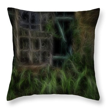 Garden Window 2 Throw Pillow by William Horden