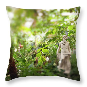 Throw Pillow featuring the photograph Garden Zeus by Heather Green