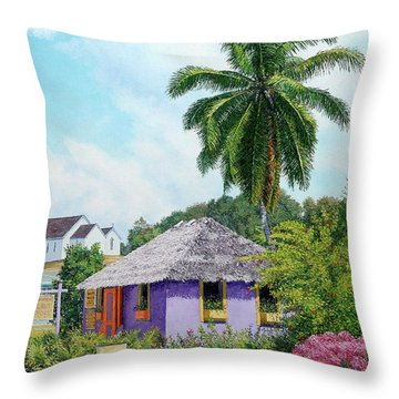 Gardener Hut Throw Pillow