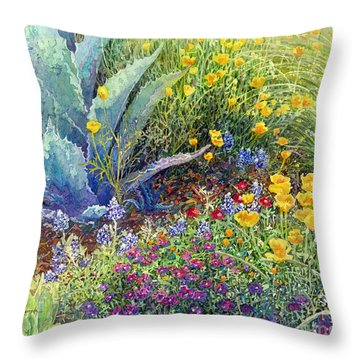 Gardener's Delight Throw Pillow