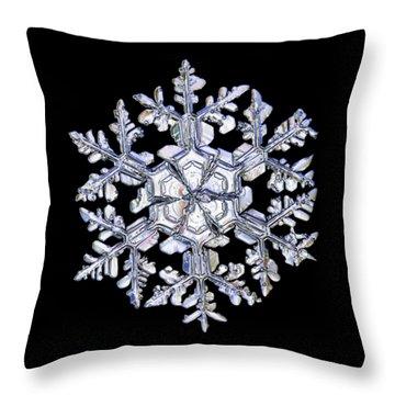 Gardener's Dream, White On Black Version Throw Pillow