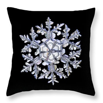 Gardener's Dream, White On Black Version Throw Pillow