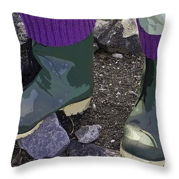 Gardener's Fashion Statement Throw Pillow by Rhonda McDougall