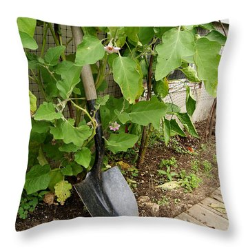 Gardener's Shovel Throw Pillow