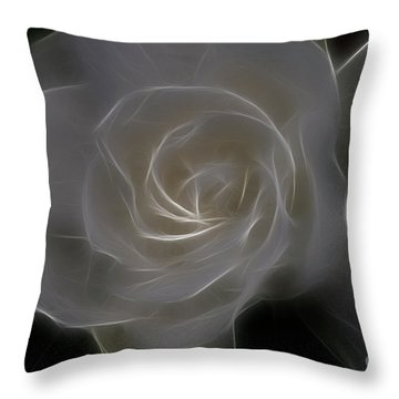 Gardenia Blossom Throw Pillow by Deborah Benoit