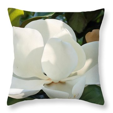 Throw Pillow featuring the photograph Magnolia by Ellen Tully