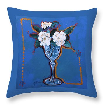 Gardenias Throw Pillow