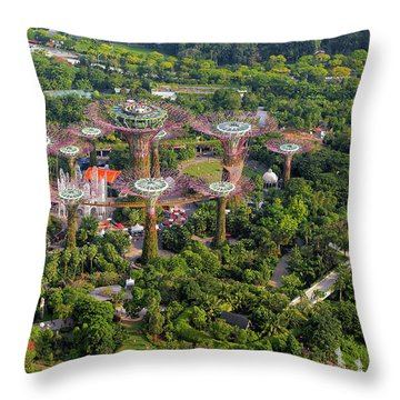 Gardens By The Bay Throw Pillow by David Gn