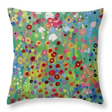 Garden's Dance Throw Pillow