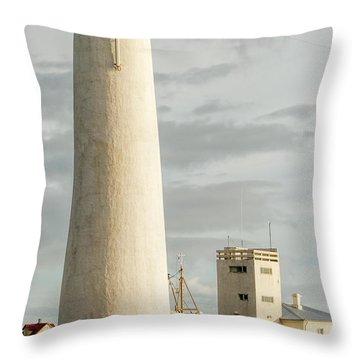 Gardskagi Lighthouse Iceland Throw Pillow