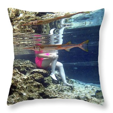 Garfish Throw Pillow
