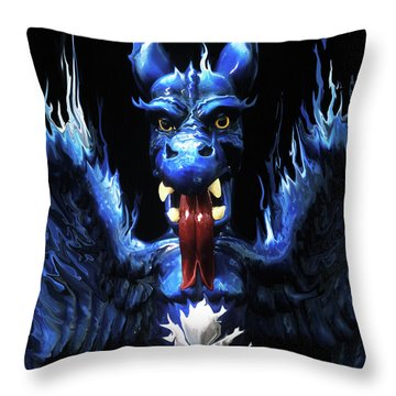 Throw Pillow featuring the photograph Gargoyle by Jim and Emily Bush