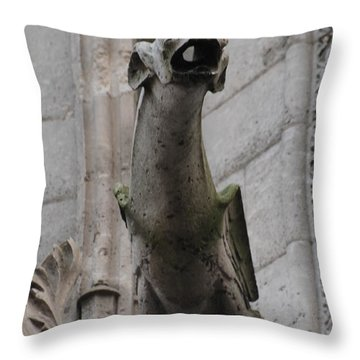 Gargoyle Notre Dame Throw Pillow