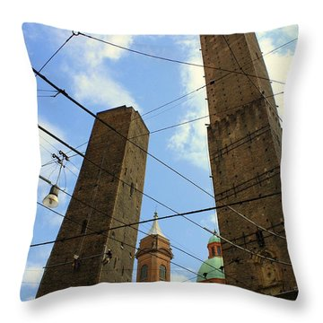 Garisenda And Asinelli Towers Throw Pillow
