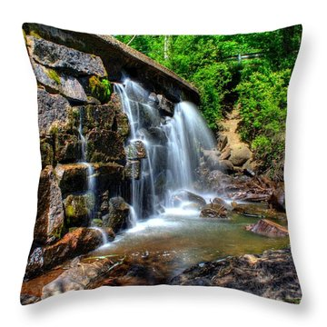 Throw Pillow featuring the photograph Garland Falls I by Greg DeBeck