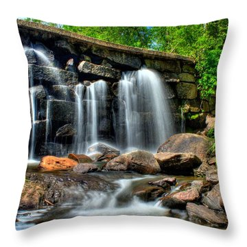 Throw Pillow featuring the photograph Garland Falls II by Greg DeBeck