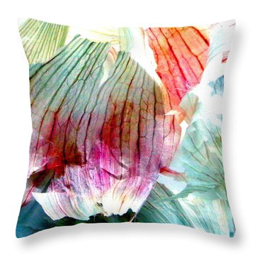 Garlic  Abstract   Series Throw Pillow