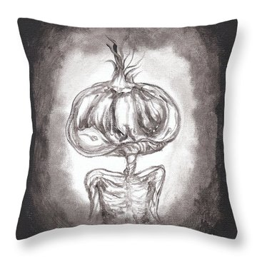 Garlic Boy Throw Pillow