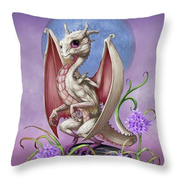 Throw Pillow featuring the digital art Garlic Dragon by Stanley Morrison
