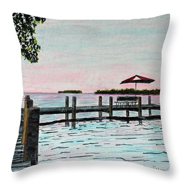 Garlic Island On Lake Winnebago Throw Pillow