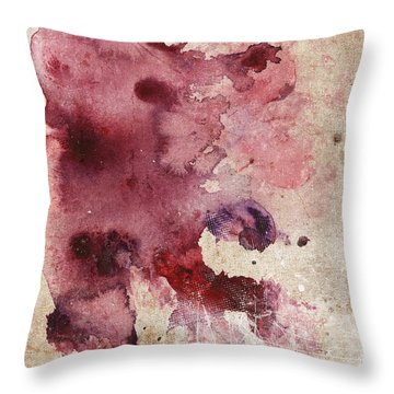 Garnet Color Splash Throw Pillow
