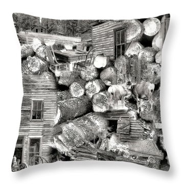 Garnet Montana Throw Pillow by Susan Kinney