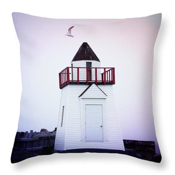Garnish Lighthouse Throw Pillow