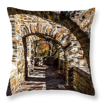 Throw Pillow featuring the photograph Garrett Chapel Balcony by William Norton