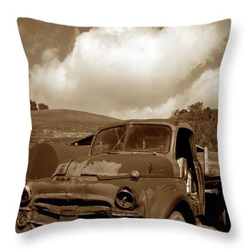 Garrod's Old Truck 2 Throw Pillow by Kathy Yates